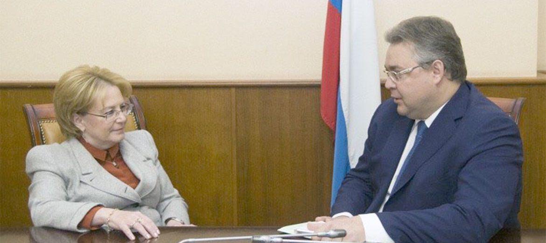 Губернатор Владимир Владимиров встретился с министром здравоохранения России Вероникой Скворцовой.