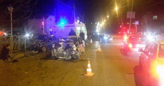 В Ставрополе «Приора» врезалась в «Десятку». Оба водителя – злостные нарушители ПДД