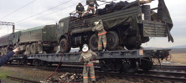 В Минводах сгорел «КАМАЗ», пострадал 1 человек. ВИДЕО