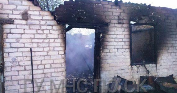 В селе Казьминском сгорела летняя кухня. Погиб 1 человек