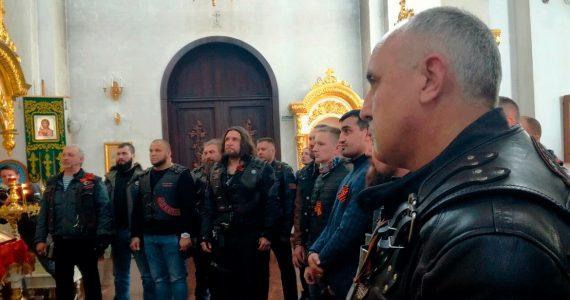 Байкер Хирург и «Ночные волки» приехали в Ставрополь и освятили мотоциклы