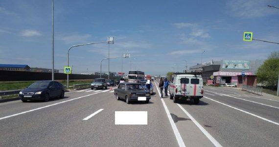 «Семёрка» насмерть сбила пенсионерку на пешеходном переходе в Минводах