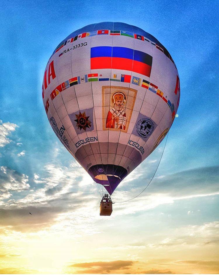 Внебо над Железноводском подняли немалый тепловой аэростат «Россия»