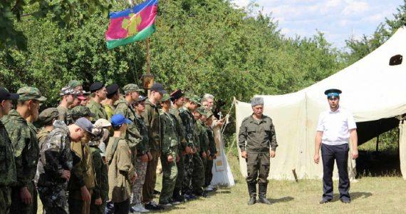 На Стрижаменте проходят полевые сборы казачьей молодёжи