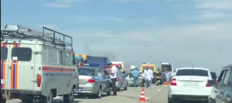 6 человек ранены в результате ДТП на трассе «Кавказ». ВИДЕО