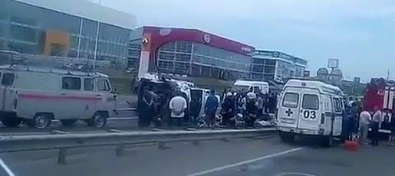 Количество пострадавших в ДТП под Минводами выросло до 13 человек. ВИДЕО