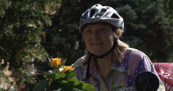 Путешественница Наталья Иванова на велосипеде доехала из Ставрополя в Тюмень