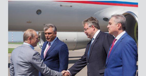 Владимир Путин прилетел в Ставропольский край