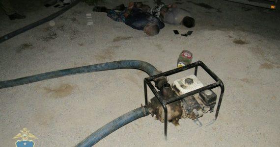 В Будённовском районе преступники сделали врезку в нефтепровод и выкачали 100 тонн нефти. ВИДЕО