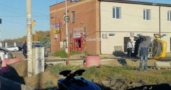 Маршртука №9 перевернулась на дороге Михайловска