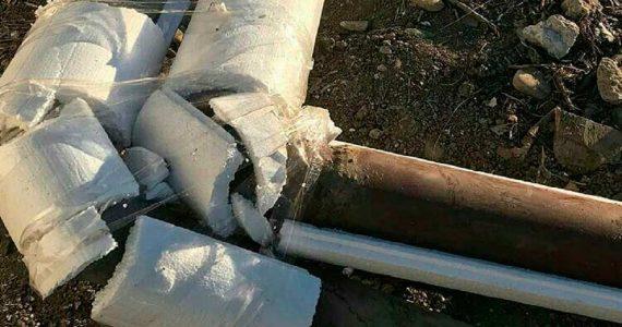 В Минераловодском округе коммунальщики скотчем примотали утеплитель к трубам