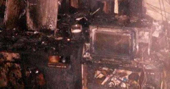 У жителя Кисловодска сгорела кухня