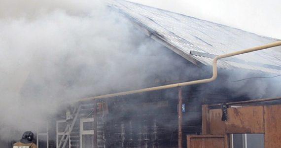 Опилки стали причиной пожара в селе Туркменского района