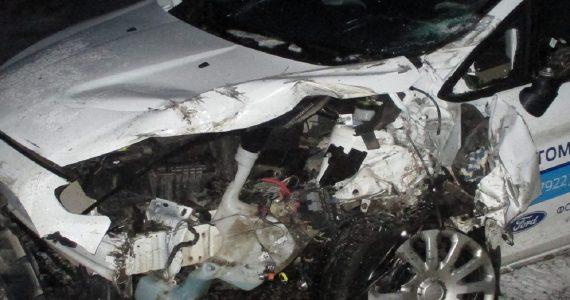 «Форд» врезался в фуру на трассе Красногвардейского района