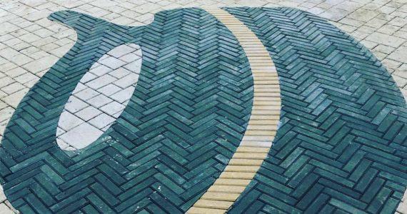 Логотип Железноводска выложили в парке цветной плиткой